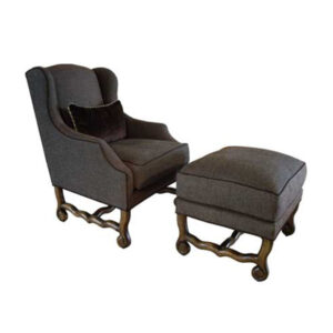 Jovan Wing Chair and Ottoman